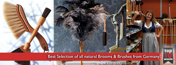 Natural Brooms and Brushes from Germany