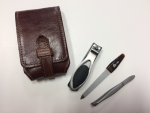 "Mens Leather Manicure Set ""Antique"""