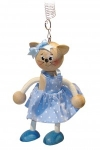 Kitty cat in blue dress Bouncie