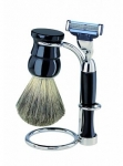 Badger Hair Shaving Set 3 Black