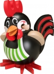 Rooster Smoker, handmade and handpainted wooden smoker from the Erzgebirge, Made in Germany by Seiffener Volkskunst