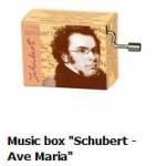 "Hand Crank Musik Box Fridolin Schubert: ""Ave Maria"" - Schubert: Ave Maria"