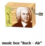 "Hand Crank Musik Box Fridolin Bach: ""Air"" - Bach: Air"