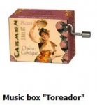 Hand Crank Musik Box Fridolin Carmen Toreador
