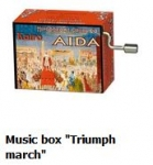 Hand Crank Musik Box Fridolin Aida Triumphal March Verdi