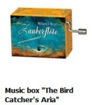 "Hand Crank Musik Box Fridolin Magic Flute plays plays ""The Bird Catcher"" from Wolfgang A. Mozart"