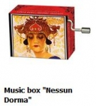 "Hand Crank Musik Box Fridolin Turandot plays ""Nessum Dorma"" from Giacamo Puccini"