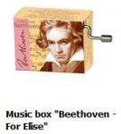 Hand Crank Musik Box Fridolin For Elise