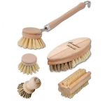 5 piece set vegan kitchen brushes made in Germany