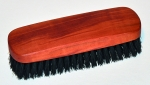 Clothes Brush pear wood with boar's bristles. Made in Germany. 17.5 cm.