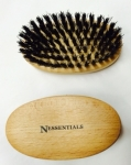 cat brush oiled beechwood with natural stiff boars bristles, 9 x 5 x 4 cm, Made in Germany