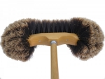 Dusting Broom Vienna Style Split Horsehair Brown