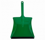 metal dustpan coated blue with rubber lip, 24 cm wide, 38 cm long, Made in Germany