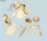 Miniature Kitchen Tool Set Wood Redecker