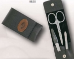 Yak leather Manicure Set scissors tweezers nail cuticle nipper clipper clipser stainless steel Made in Germany
