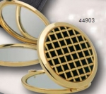 A13601 Compact Mirror, Gold/Black