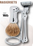 Shaving Set 3, Chrome Rounded