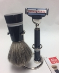 Shaving Set badger hair black handles