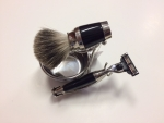 Shaving Set Marble Badger Hair shaving brush Gillette Mach 3 razor blade