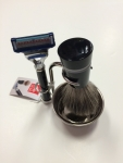 Shaving Set 4 Fusion badger hair shaving brush Gillette Mach 3 razor blade