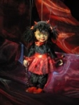 Devil Girl Marionette handmade in Prague