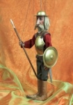 Don Quixote Marionette handmade in Prague