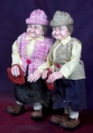 Fanny Old Woman Marionette handmade in Prague