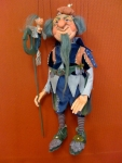 Neptun Poseidon Marionette hand made in Germany ceramic glass eyes
