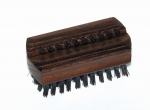 Nailbrush Thermowood Small, black bristles