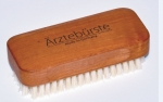 Doctor's Nail and Hand wash brush, waxed pear wood, short strong natural boar's bristles,Made in Germany