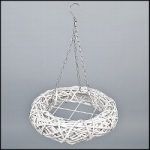 Advent Wreath rattan nature, no candle holders, 40 x 52 cm